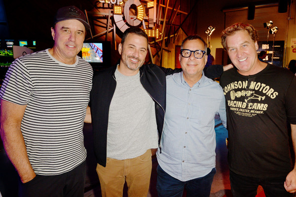 'Crank Yankers' 2019 Premiere Party [crank yankers,social group,event,fun,team,party,pub,t-shirt,recreation,leisure,vacation,kevin nealon,jim florentine,kent alterman,jimmy kimmel,l-r,california,los angeles,premiere party,2019 premiere party]