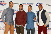Marvin Humes, J.B Gill, Aston Merrygold and Oritse Williams of JLS attend the Capital FM Jingle Bell Ball at 02 Arena on December 8, 2012 in London, England.