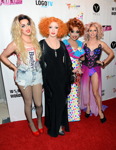 'RuPaul's Drag Race' Season 6 Finale [rupauls drag race,season,red carpet,carpet,fashion,flooring,event,dress,fashion design,premiere,fun,style,finalists,winner,jinkx monsoon,bianca del rio,new tropicana las vegas,season six finale,season,viewing party]