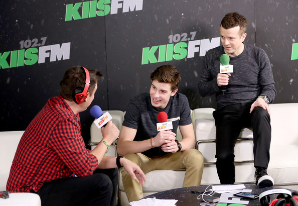 KIIS FM's Jingle Ball 2014  Powered by LINE  - Backstage [event,design,interview,shawn mendes,jesse lozano,jojo wright,backstage,l-r,line,staples center,los angeles,kiis fm,jingle ball]