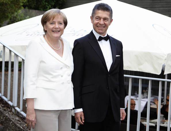 Joachim Sauer German Chancellor Angela Merkel and her husband Joachim Sauer arrive at the 'Festspielhaus' ahead of the opening performance of 'Lohengrin' at the Richard Wagner opera festival on July 25, 2010 in Bayreuth, Germany.