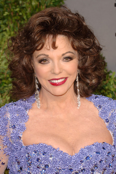 Joan Collins Actress Joan Collins arrives at the Vanity Fair Oscar party hosted by Graydon Carter held at Sunset Tower on February 27, 2011 in West Hollywood, California.