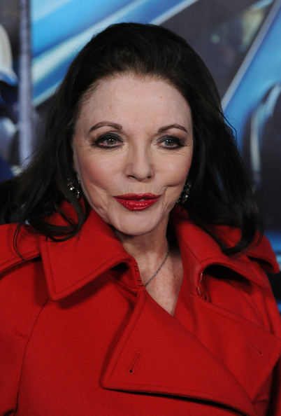 Joan collins without makeup joan collins premiere of the