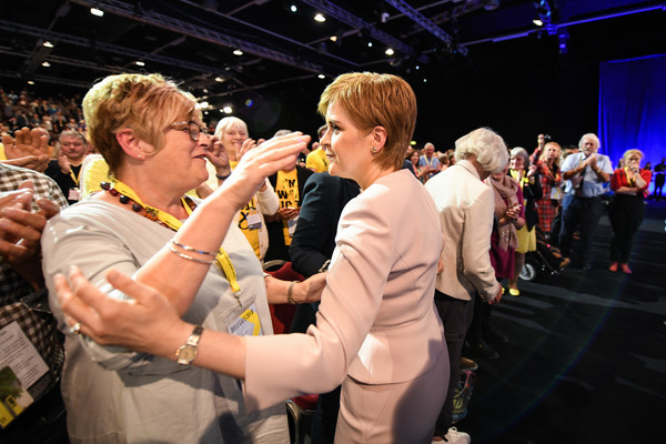 Nicola Sturgeon Delivers Her Leader's Speech At SNP Spring Conference