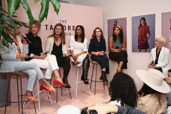Tailored Rebecca Taylor x The Wing Launch Event [rebecca taylor,laia garcia,lauren bush lauren,padma lakshmi,zoey deutch,erin loos cutraro,joanna coles,l-r,event,fashion,performance,tourism,conversation,team,wing launch event,launch event]