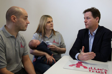 Joanne Thompson Liberal Democrat Leader Nick Clegg Visits Millies House