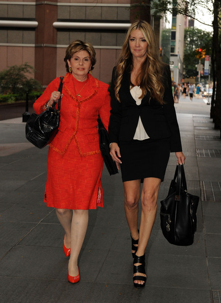 Jodie Fisher And Gloria Allred Sighting In New York City