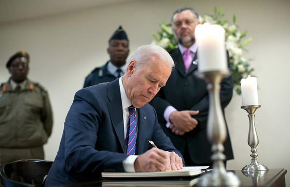 Joe and Jill Biden Sign Condolence Book