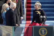 Lady Gaga attends the 59th inaugural ceremony on the West Front of the U.S. Capitol on January 20, 2021 in Washington, DC.  During today's inauguration ceremony Joe Biden becomes the 46th president of the United States.