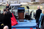 "Singer Lady Gaga performs ""The Star-Spangled Banner"" at the inauguration of U.S. President-elect Joe Biden on the West Front of the U.S. Capitol on January 20, 2021 in Washington, DC. During today's inauguration ceremony Biden becomes the 46th President of the United States."