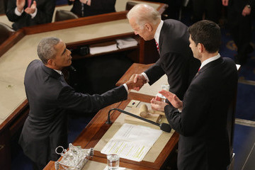 Joe Biden President Obama Delivers His Last State of the Union Address to Joint Session of Congress