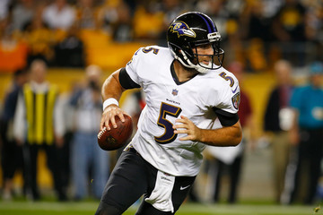 Joe Flacco Baltimore Ravens vs. Pittsburgh Steelers