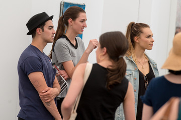 Joe Jonas Blanda Eggenschwiler 2014 Frieze New York Art Fair - Day 3