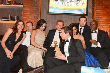 Joe Lo Truglio Stephanie Beatriz Fox and FX's Golden Globes Afterparty