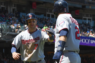 Joe Mauer Minnesota Twins v San Francisco Giants