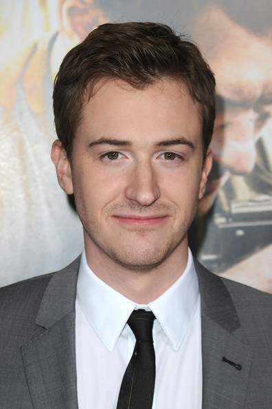 """Premiere Of HBO's """"The Pacific"""" - Arrivals [the pacific,hair,face,eyebrow,forehead,hairstyle,chin,suit,white-collar worker,jaw,facial hair,arrivals,joe mazzello,grauman,california.\u00ea,hollywood,chinese theatre,hbo,premiere,premiere]"""