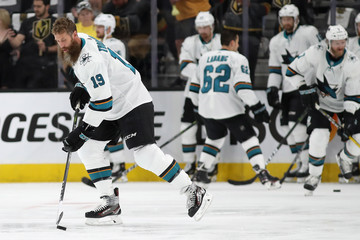 Joe Thornton San Jose Sharks v Vegas Golden Knights - Game One