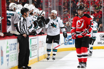 Joe Thornton San Jose Sharks v New Jersey Devils