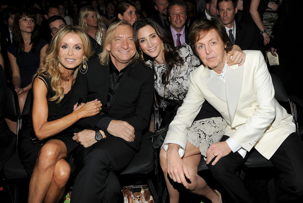 Joe Walsh And Marjorie Bach Photos Photostream Pictures The 54th Annual Grammy Awards Backstage Aunce