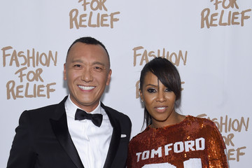 Joe Zee June Ambrose Naomi Campbell's Fashion For Relief Charity Fashion Show - Arrivals