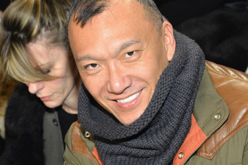 Joe Zee Front Row at the Ralph Lauren Show