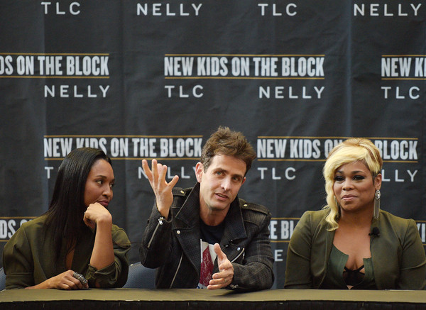 New Kids on the Block Press Conference [new kids on the block press conference,news conference,font,event,team,games,joey mcintyre,t-boz,chilli,madison square garden,new york city,tlc]