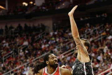 Joffrey Lauvergne San Antonio Spurs Vs. Houston Rockets