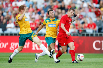 John Arne Riise Liverpool FC Legends v Australian Legends