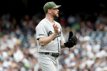John Axford Oakland Athletics v New York Yankees
