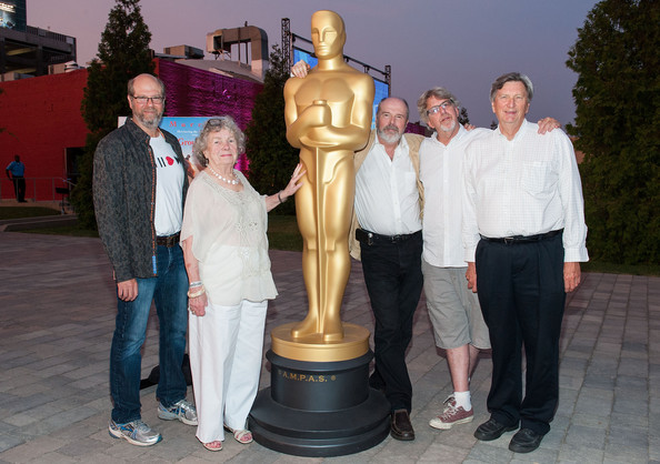 """The Academy Of Motion Picture Arts And Sciences' Oscars Outdoors Screening Of """"Groundhog Day"""" [groundhog day,sculpture,statue,art,monument,tourism,rick overton,john bailey,trevor albert,angela paton,stephen tobolowsky,oscars outdoors,california,academy of motion picture arts and sciences,oscars outdoors screening]"""