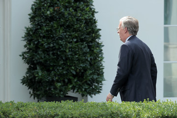 John Bolton Rex Tillerson Visits White House for Working Lunch With President Trump