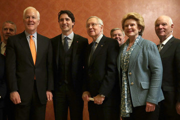 John Cornyn Senate Majority Leader McConnell Meets With Canadian PM Trudeau
