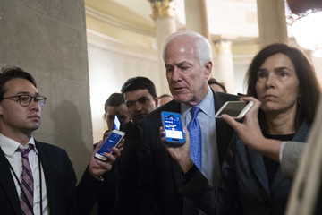 John Cornyn Senate GOP Conference Meets After Contentious Judiciary Committee Hearing