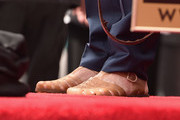Actor Jeff Bridges, shoe detail, attends a ceremony honoring John Goodman with the 2,604th Star on The Hollywood Walk of Fame on March 10, 2017 in Hollywood, California.