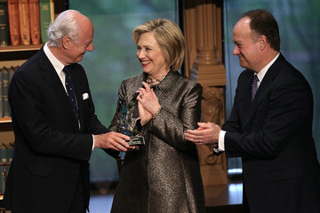John J. DeGioia Hillary Clinton Attends Georgetown Institute For Women, Peace And Security Award Ceremony