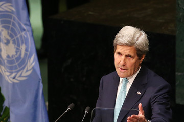 John Kerry Paris Agreement For Climate Change Signing