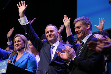 John Key Bill English National Party Hold Its Campaign Launch