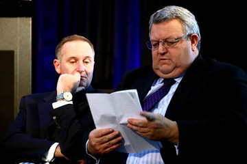 John Key Gerry Brownlee Auckland Electric Rail Network Switched On