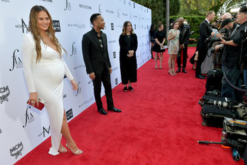 John Legend Chrissy Teigen The Daily Front Row Hosts 4th Annual Fashion Los Angeles Awards - Red Carpet