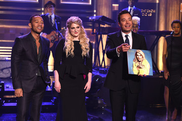 John Legend Meghan Trainor Meghan Trainor Visits 'The Tonight Show Starring Jimmy Fallon'