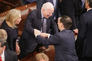 John McCain President Obama Delivers His Last State of the Union Address to Joint Session of Congress
