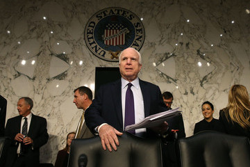 John McCain Senate Armed Services Committee Holds Hearing Army Chief of Staff Nomination Hearing For Army Gen. Mark Milley