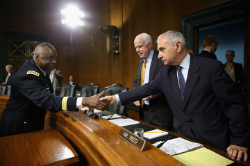 John McCain Senate Armed Services Committee Holds Hearing on Military Operations to Counter ISIL