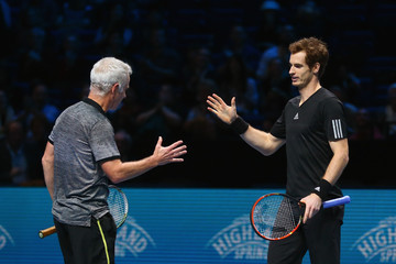 John McEnroe Andy Murray Barclays ATP World Tour Finals - Day Eight