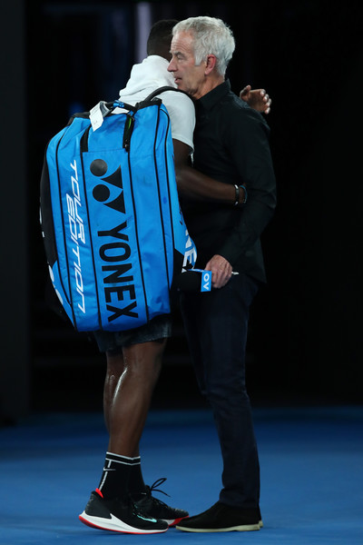 2019 Australian Open - Day 9 [blue,cobalt blue,electric blue,united states,melbourne park,spain,australia,australian open,match,john mcenroe,frances tiafoe,rafael nadal]