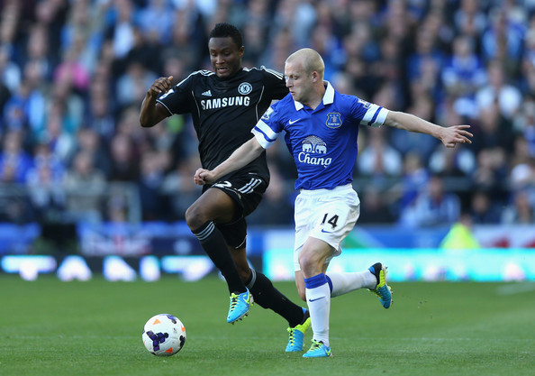 Naismith and john obi mikel everton v chelsea premier league