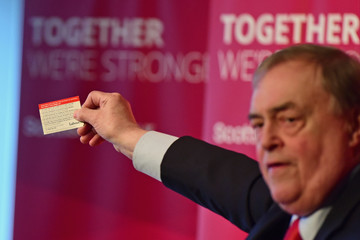 John Prescott Gordon Brown and John Prescott Deliver Campaign Speeches in Kirkcaldy