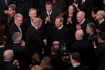 John Roberts  Donald Trump Delivers Address to Joint Session of Congress