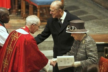 John Sentamu Justin Welby The Queen and Duke of Edinburgh Attend the Inauguration of the Tenth General Synod