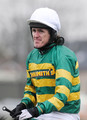 Jockey Tony McCoy sheds a tear after riding Don't Push It to victory in John Smith's Grand National Steeple Chase  at Aintree racecourse on April 10, 2010 in Liverpool, England.